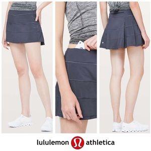 Lululemon Pace Setter Blue Purple Skirt w Shorts